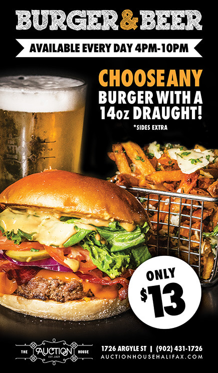 Halifax Burger Beer Promo